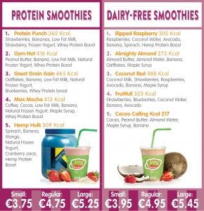 protein and dairy free smoothies at jump juice bars